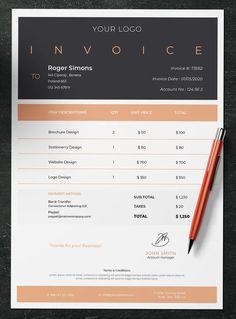 Invoice Vol. 4 by jiwstudio on Envato Elements Invoice Design Template, Letterhead Design, Letterhead Template, Brochure Template, Flyer Template, Business Labels, Cool Business Cards, Brochure Layout, Brochure Design