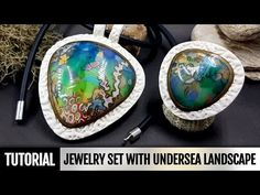 DIY Polymer clay Jewelry Set with Undersea Landscape or Coral Reef. VIDEO Tutorial! - YouTube