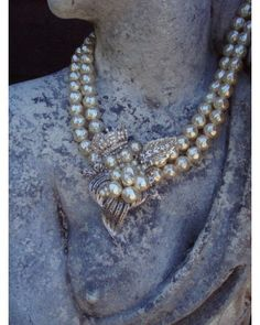 Restyled pearl statement necklace #vintage #jewelry