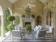 OUTDOOR ROOM – Absolutely beautiful outdoor living. The Enchanted Home