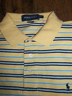 Polo GOLF Ralph Lauren Size XL Men's Short Sleeve Polo Shirt Cotton Pony Logo
