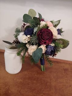 Wedding Bouquet, Sola Bouquet, ivory winter Bouquet, burgundy Bouquet, Bride Bouquet,Winter White Bouquet, pine cone bouquet,navy woodland Fresh Flowers, Dried Flowers, Cotton Bouquet, Burgundy Bouquet, Winter Bouquet, Sola Wood Flowers, Wedding Order, Flower Ball, Burgundy Wine