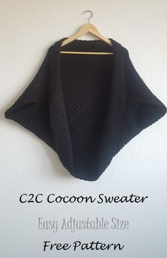 Nice and cozy C2C cocoon sweater. Perfect for summer evenings!