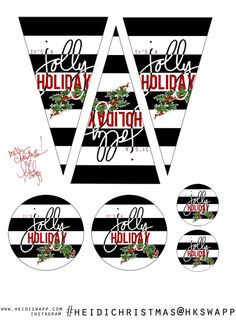 """It's a jolly holiday""! Heidi Swapp's 12-days-of-Christmas Freebies!"