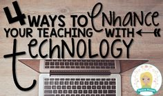 Here are four ways you can easily start teaching with technology by tomorrow. TpT Teacher-Author Teresa Kwant shares her favorite apps and more. Teaching Technology, Technology Integration, Teaching Math, Educational Websites, Educational Technology, 21st Century Classroom, Secondary Math, Classroom Inspiration, Classroom Ideas