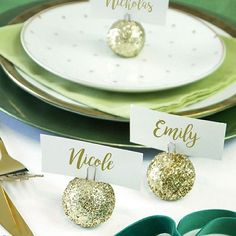 gemstone single cork place card holder lettering design wedding places and place card