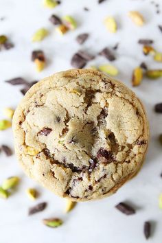 Dark Chocolate Chunk, Pistachio, and Sea Salt Cookie Recipe. The perfect holiday cookie!