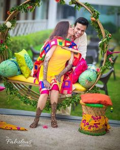 Spectacular Photobooth Ideas For Your Wedding And Mehndi Ceremony Photoshoot Mehendi Photography, Indian Wedding Photography, Event Photography, Wedding Couple Poses, Pre Wedding Photoshoot, Photoshoot Ideas, Mehndi Ceremony, Haldi Ceremony, Wedding Stage Decorations