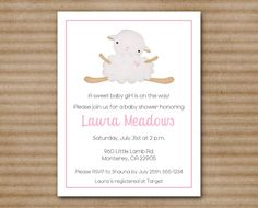 PRINTABLE Lamb Baby Shower Invitation Sheep by PaperHouseDesigns