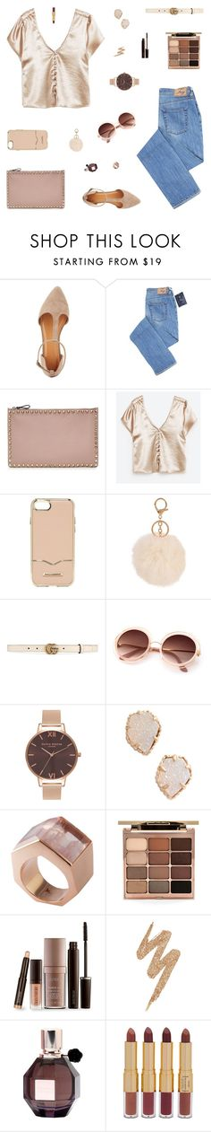 """Just Imagination"" by belenloperfido ❤ liked on Polyvore featuring Charlotte Russe, Valentino, Rebecca Minkoff, Armitage Avenue, Gucci, Olivia Burton, Kendra Scott, Kattri, Stila and Laura Mercier"