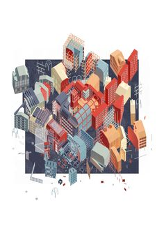 The City Of Morphologies Part 1 Project 2015 Alessandro Magliani Architectural Association London UK Axonometric Drawing, Isometric Drawing, Architecture Graphics, Architecture Drawings, Architecture 101, Architectural Association, Architectural Salvage, Architecture Presentation Board, Art Et Illustration