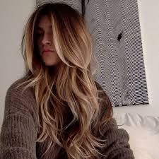 long layered brown blonde highlights lowlights bronde hair straight pretty pinterest. Black Bedroom Furniture Sets. Home Design Ideas