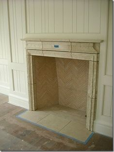 Apparently there are different types of brick design for the inside of your fireplace. This is my favorite for now. Check out the post to see more!