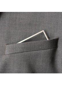 Pocketmen 'Square' stainless steel