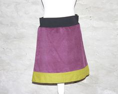 Cordrock beere lila skirt for spring sewing diy ROCK Farbwahl! polka dots von Handmade Erzgebirge auf DaWanda.com