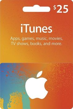 $25 Apple iTunes Gift Card: $24.00 End Date: Thursday Mar-29-2018 10:17:47 PDT Buy It Now for only: $24.00 Buy It Now | Add to watch list