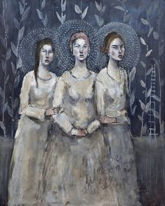 Sisters of Mercy - A gallery-quality fine art art print by Misty Mawn for sale. Art Painting, Artist Inspiration, Figure Painting, Female Art, Illustration Art, Art, Sisters Of Mercy, Figurative Art, Interesting Art