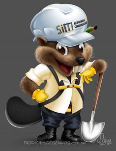 beaver castor mascot design character mascote personagem 3d desenho cartoon ilustracao capacete obra construtora arquitetura jlima 4