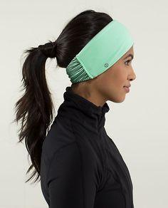 Headband from Lululemon Athletica on the blog