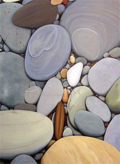 These larger pebbles and rocks are so superb, the different colours are nice and they are all so smooth and some have different patterns of lines on them which are pretty!