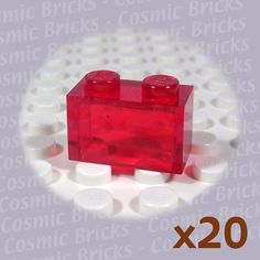 LEGO PART 3020 RED 2 x 4 PLATE x 20