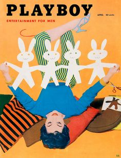 A serious contender for the cutest cover of Playboy magazine ever. #vintage #magazine #1950s