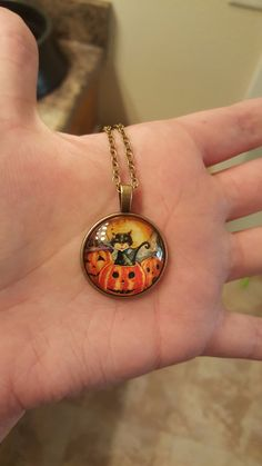 Cat Halloween Vintage Necklace - VERY LIMITED STOCK!