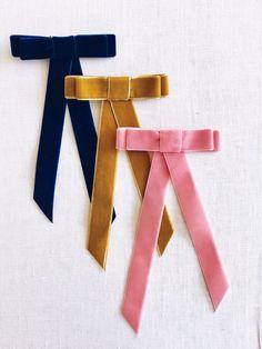 DIY Velvet Ribbon Bow Barrette