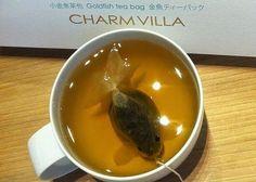 Чайный пакетик в виде золотой рыбки
