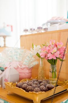 Sweets + Decor + Favors from a Dancing in the Rain Birthday Party via Kara's Party Ideas KarasPartyIdeas.com (22)