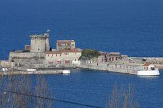 Ciboure (Pyrénées Atlantiques) le Fort de Socoa vu de la Tour de  Bourdagain