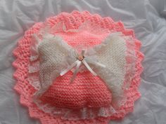 dolls layers of lace pram pillow...
