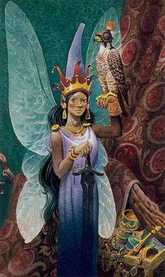 The Empress - Fairy Tarot (Antonio Lupatelli)