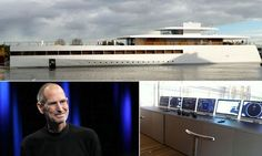 Steve Jobs' final masterpiece was a state-of-the-art 260-foot yacht. It was completed by a Dutch shipbuilder this month, one year after his death. The sleek ship is made of light-weight aluminum and Jobs employed the chief engineer of his Apple stores to help design special glass for ten-foot-high windows across the hull. Unfortunately, Jobs never had a chance to use the yacht, christened Venus after the Roman goddess of love. via dailymail.co.uk