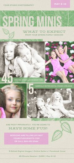 Spring 2014 Photography Blog Board Photoshop Template
