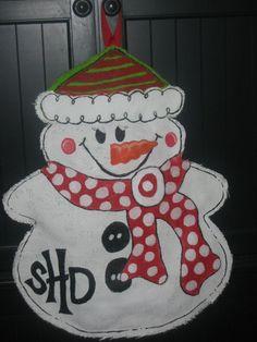 Moma's Christmas Door Hanger