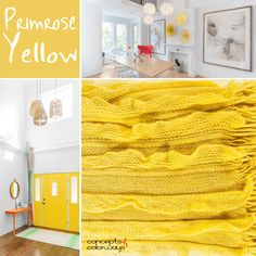 pantone primrose yellow, bright yellow, yellow interior design, 2017 color trends