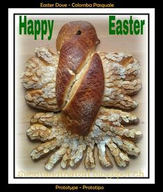 Sweet and That's it: Easter Dove - Colomba Pasquale Happy Easter, Breads, Yummy Food, Tutorials, Baking, Sweet, Recipes, Happy Easter Day, Bread Rolls