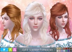 NewSea: J123 Ladder To Heaven donation hairstyle • Sims 4 Downloads