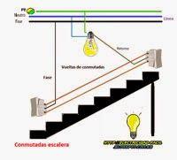 Esquemas eléctricos: Combinadas escalera Electrical Layout, Electrical Diagram, Electrical Wiring Diagram, Architecture Model Making, Led Lighting Home, Electric Circuit, House Wiring, Electrical Installation, Electronic Parts
