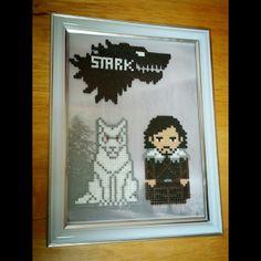 Framed Game of Thrones hama perler by frikithings
