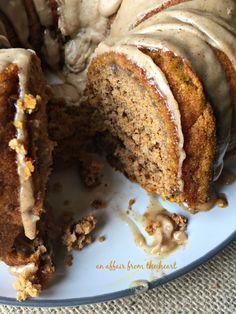 Pumpkin Spiced Coffee Cake with Brown Butter Glaze - Desserts - Kuchen Pumpkin Bundt Cake, Pumpkin Coffee Cakes, Pumpkin Spice Coffee, Spiced Coffee, Pumpkin Dessert, Pumpkin Pumpkin, Spice Cake With Pumpkin, Pumpkin Coffee Recipe, Coffee Cake Cookies