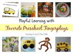 Our collection of favorite preschool fingerplays, with fun hands-on activities to go with them! Toddlers will love them, too!