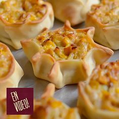 Tapas, Wonton Appetizers, Pan Dulce, Food Decoration, Tasty Bites, Easy Cookie Recipes, Canapes, Antipasto, Christmas Baking