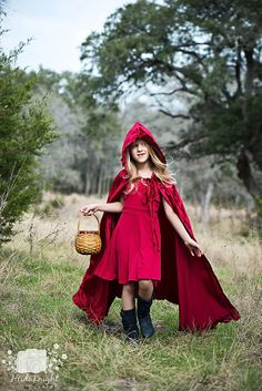 The cutest Little Red Riding Hood you'll ever see.  :)