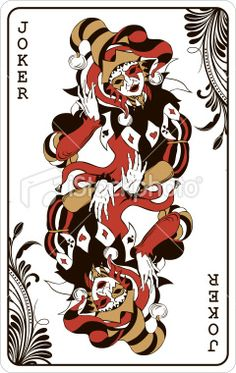 Double joker - playing card Royalty Free Stock Vector Art Illustration