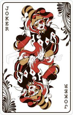 Double joker - playing card Royalty Free Stock Vector Art Illustration