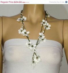 Items similar to WHITE OYA crocheted necklace with white semiprecious stones on Etsy Tatting, Pearl Necklace, Crochet Necklace, Drop Earrings, Pearls, Trending Outfits, Stone, Unique Jewelry, Handmade Gifts