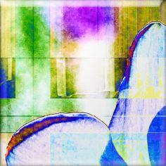 """'Glaskachel """"bunt 1""""' von Rudolf Büttner bei artflakes.com als Poster oder Kunstdruck $18.71"""