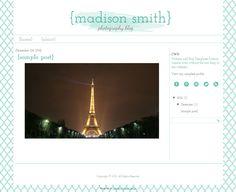 "Blog Design Blogger  Blog Template Wordpress Blog - The ""Madison"" Blog Template. $29.00, via Etsy."